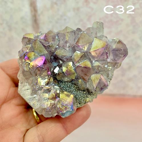 Amethyst Aura Cluster C32