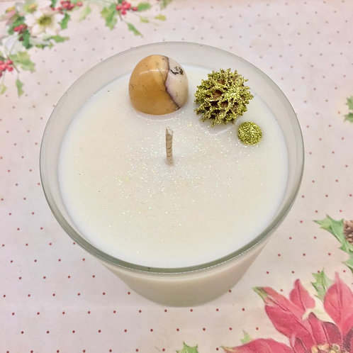 Frankincense, Myrhh & Mookaite Candle