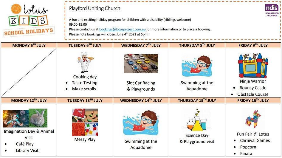 Lotus kids Playford - School holiday pro