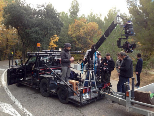 voiture travelling grue camera car film multipass movie