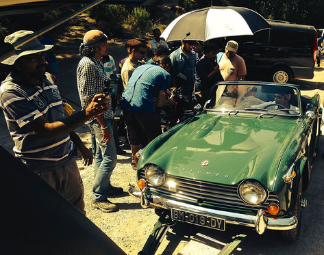 voiture travelling tournage film Bollywood