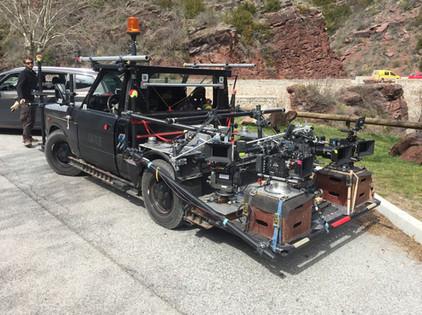 voiture travelling tournage film camera car