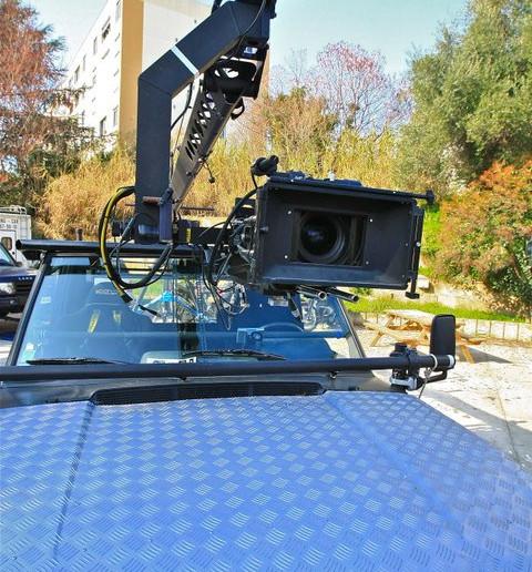 voiture travelling grue camera car