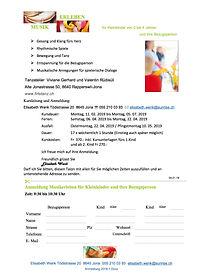 Musikerleben für Kleinkinder in Rapperswil SG mit Elisabeth Wenk | Anmeldung pdf | Atelier Firletanz