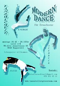Modern Dance | Tanzkurse mit Valentin Rüdisüli im Atelier FirleTanz in CH-8640 Rapperswil-Jona | jeweils Montags 18.45 - 20.15 Uhr
