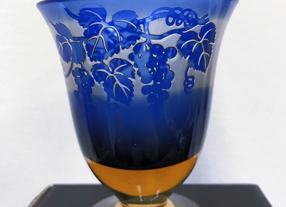 Fancy Cup with Grape Vine Engraving