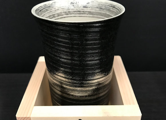 Tall Silver Cup with an Aromatic wooden MASU Cup