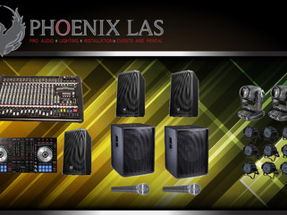 100 - 200 PAX  Sound and Lighting Package