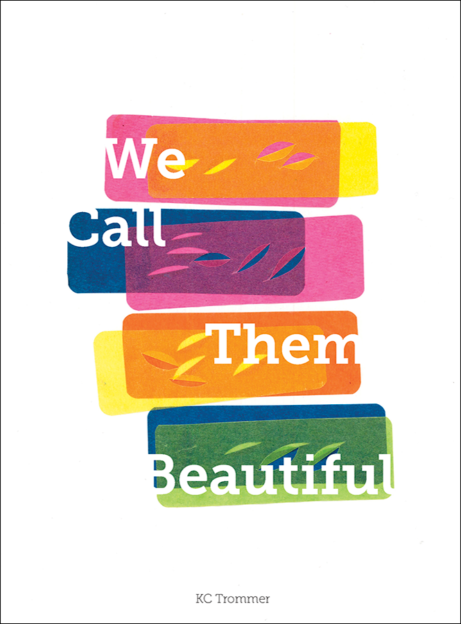 The cover of KC Trommer's collection WE CALL THEM BEAUTIFUL