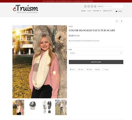 eTruism scarf helping the environment modleing by more than modeling models