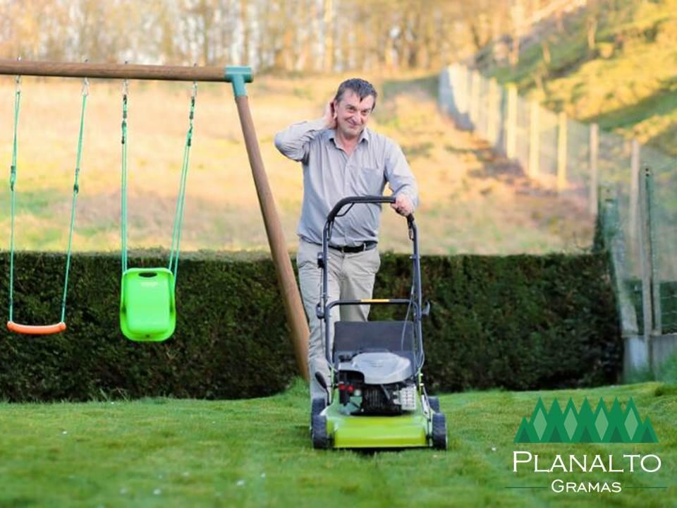 Cortar a grama no inverno - Planalto Gramas