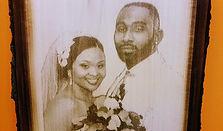 wedding laser engrave plaque