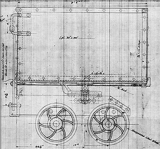 A 1912 blueprint of a Calumet & Arizona mine car