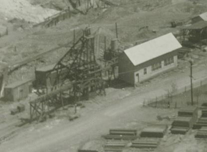 Headframe of the Young shaft circa 1920's