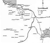 map of bisbee mines