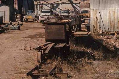 Toilet Cars inside the Campbell mine yard Bisbee Arizona