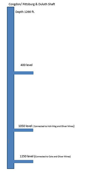 Diagram of the Congdon shaft Bisbee Arizona