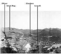1909 mines of Lowell Arizona