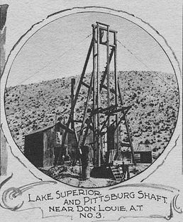 Simple wooden headframe on the L.S. &P. 3 circa 1903