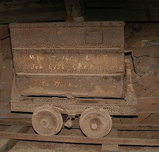 E-car  located inside the Queen mine tour