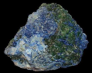 Shattuckite and bisbeeite with malachite