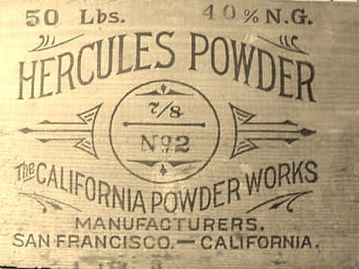 Hercules powder box California powder works