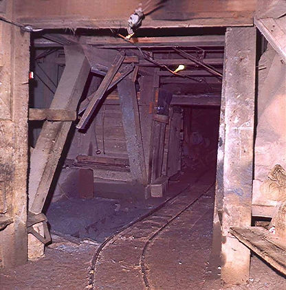 ore pocket 1200 level Cole mine Bisbee, Arizona