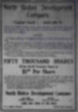 Ad for stock in the North Bisbee Development Company