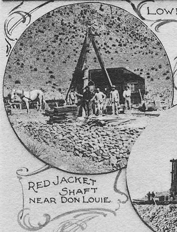 Early photo of the Red Jacket / Contact Shaft in Bisbee