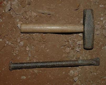 Bisbee style 4 ½ lb  single jack  and  hand steel