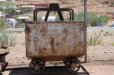 Calumet & Arizona divison car displayed at the Queen mine