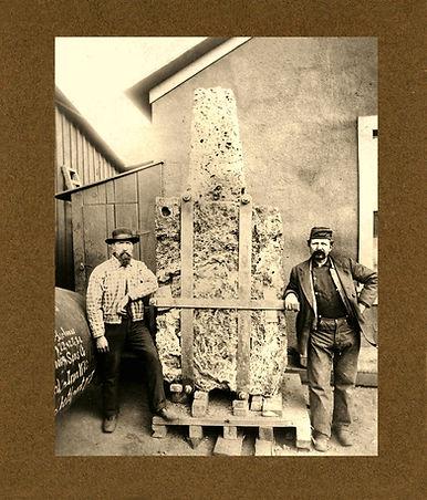 3 ½ ton block of azurite and malachite at the Czar Mine