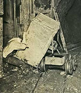 miner trapped by mine car Bisbee Arizona