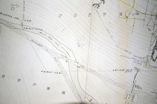 map showing the location of the East shaft in Bisbee Arizona