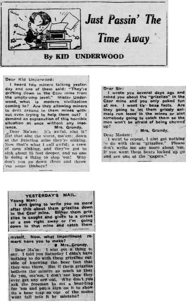 Czar mine jokes 1921