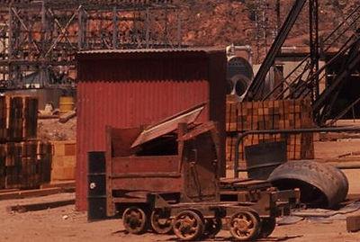 Damaged Powder Car Junction Mine 1966