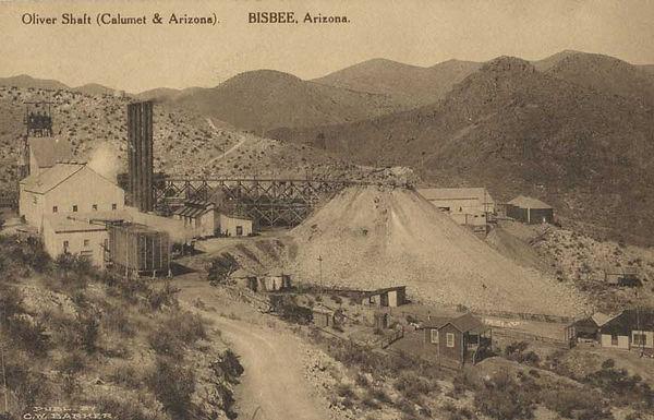 Oliver mine site circa 1910 Bisbee Az