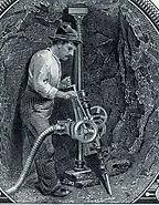 miner drilling Bisbee Arizona