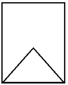 """Cross section of a gable bottom car showing """"V"""" inside car bottom"""