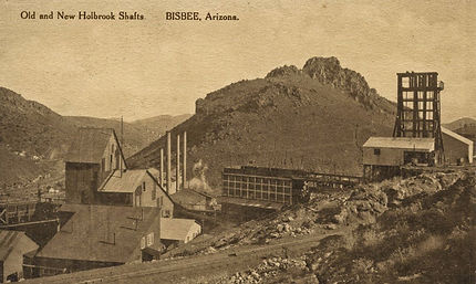 The Holbrook #1 and #2 Shafts around 1906 Bisbee, Arizona