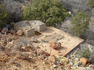 Concrete foundation at Cuprite Shaft site Bisbee Arizona