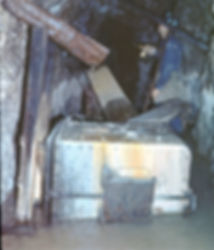 Postmining calcite growth on a mine car