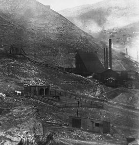 The Holbrook #1 Shaft around 1903 Bisbee, Arizona