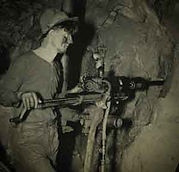 miner drilling Bisbee Arizona