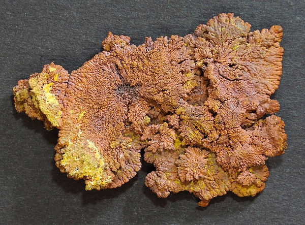 Copper which formed as a direct precipitation