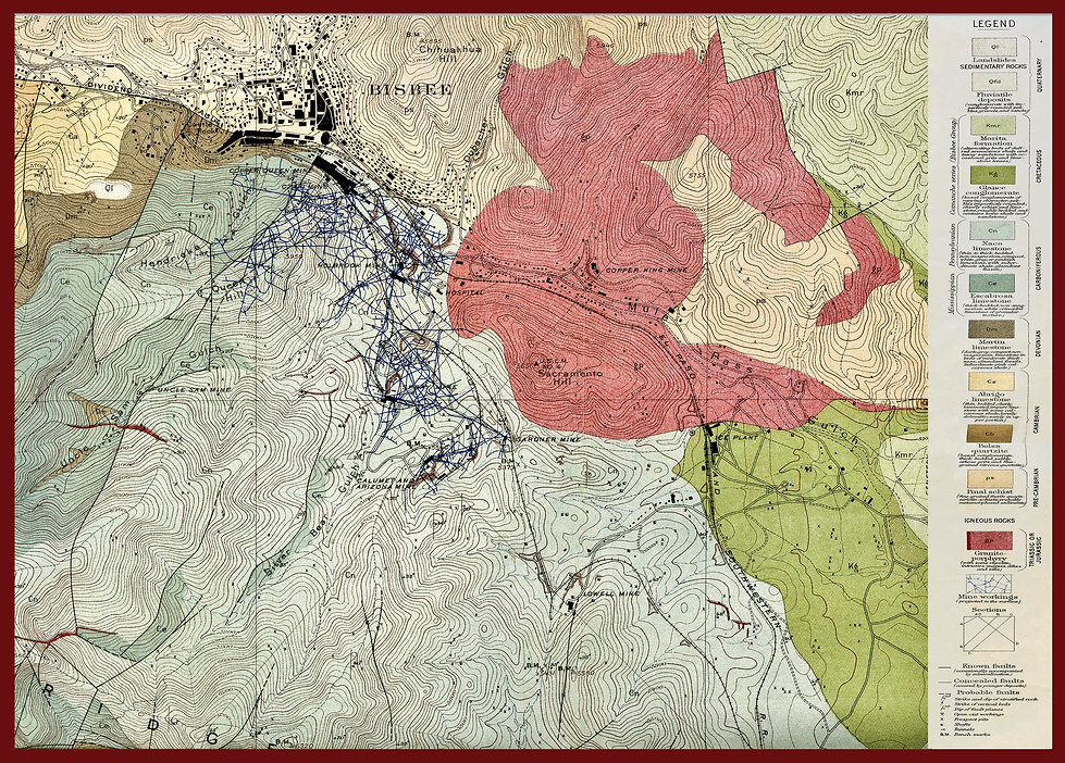 geology map Bisbee Arizona