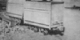 Koppel gable bottom mine car Bisbee, Arizona circa 1900's