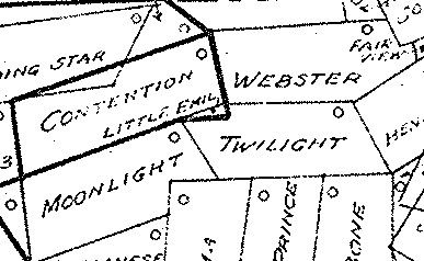 Map showing the Little Emil fractional claim Bisbee Arizona
