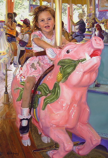 Making Merry with the Pink Pig