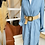 Thumbnail: Robe chemise fluide Bleu jean